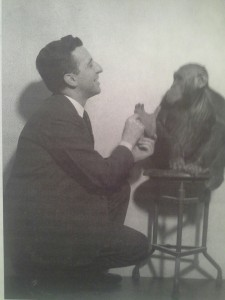 Dr. Fulton and  His Chimpanzee